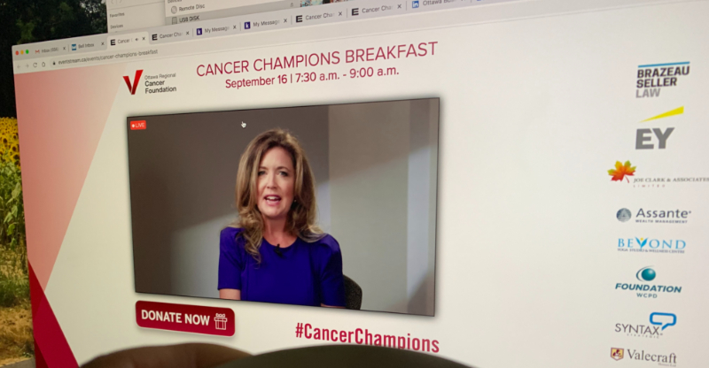 Virtual Cancer Champions breakfast