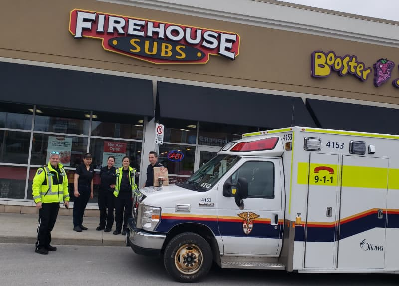 Firehouse Subs donation to paramedics