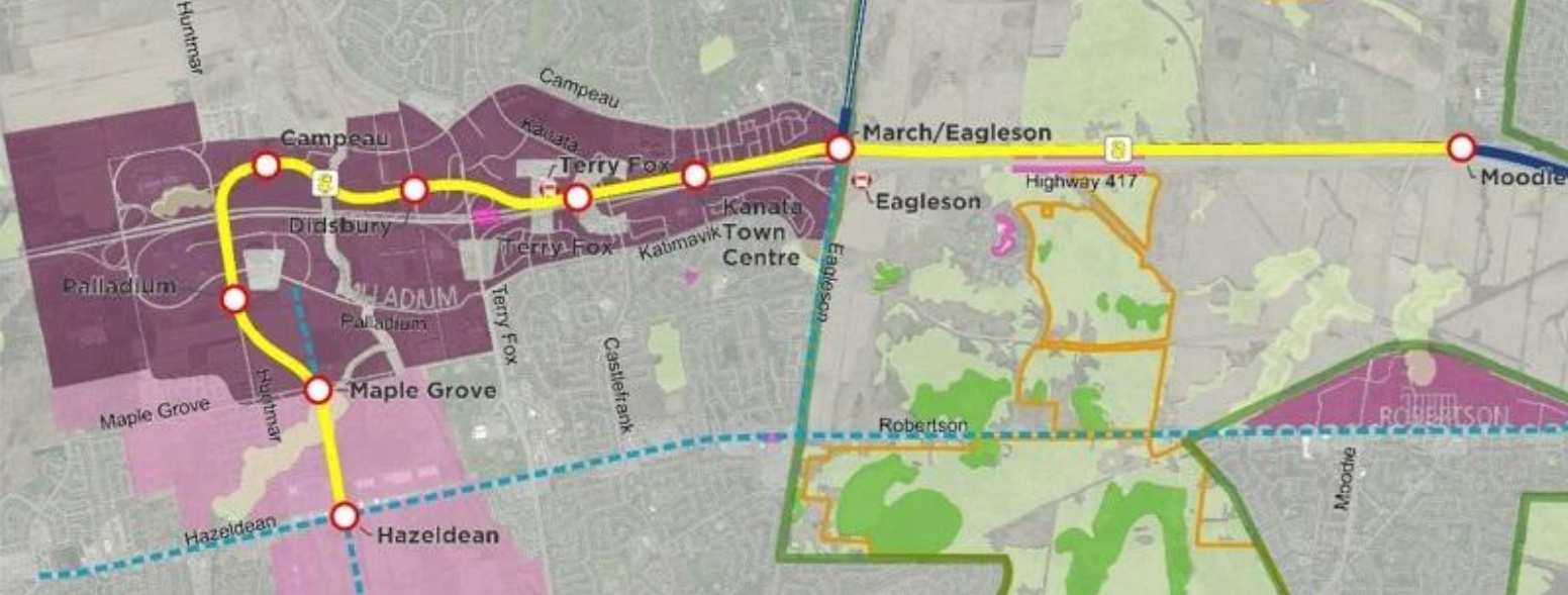 Proposed LRT Kanata route