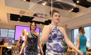 The Ladies' Night fundraiser, held at Andaz Ottawa Byward Market on Friday, March 24, 2017 in support of Harmony House second-stage women's shelter, included a fashion show of designer dresses from Rent Frock Repeat. (Photo by Caroline Phillips)