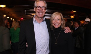 Frank Tierney, law partner at Tierney Stauffer, with his wife, Mary Ann Kehoe,  at the Irish Canadian Saint Patrick's Week Luncheon held at the Heart & Crown Irish Pub in the ByWard Market on Friday, March 10, 2017, in support of the Bruyère Foundation. (Caroline Phillips / Ottawa Business Journal)