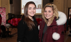 From left, Ottawa accessories designer Krista Norris with her friend Alyssa Falle at the Women in Business Conference Pre-Event Pajama Party held at allsaints on Sunday, March 5, 2017. (Photo by Caroline Phillips)