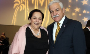 Cuban Ambassador Julio Garmendía Peña and his wife, Miraly González González, first secretary at the embassy, at the St. Patrick's Home of Ottawa Foundation's A Night at the Tropicana soirée held at the Ottawa Conference and Event Centre on Thursday, March 9, 2017.