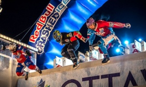 A scene from the Red Bull Crashed Ice championships in Ottawa. (Photo courtesy Ottawa 2017 Bureau)