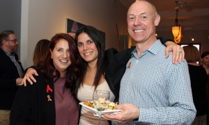 From left, Bruce House board vice chair Jacquie Bushell with Bruce House employee Linda Truglia and board member Richard Isbrucker  at a launch held Wednesday, April 19, 2017, at the Urban Element for the upcoming Taste for Life fundraiser in support of people living with HIV/AIDS. (Photo by Caroline Phillips)