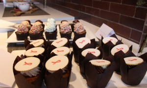 Desserts, with their own A Taste of Life logo, were served Wednesday, April 19, 2017, at The Urban Element to promote the upcoming fundraiser in support of people living with HIV/AIDS. (Photo by Caroline Phillips)