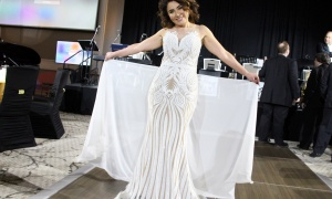 Semiha Cantas, owner of Cantas Fashion on Sussex Drive, organized a fashion show for the Sparkle Dental Charity Ball held at the Infinity Convention Centre on Saturday, April 30, 2017. (Photo by Caroline Phillips)