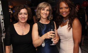 From left, Elizabeth Lozano, Karen LeBlanc and Karen Ergus at the Sparkle Dental Charity Ball held at the Infinity Convention Centre on Saturday, April 30, 2017. (Photo by Caroline Phillips)