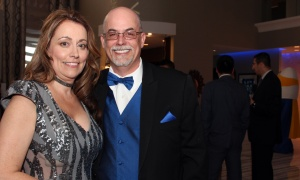 Robert Waters, president and founder of Watersedge Dental Laboratory, with his wife, Suzanne, at the Sparkle Dental Charity Ball held at the Infinity Convention Centre on Saturday, April 30, 2017. (Photo by Caroline Phillips)