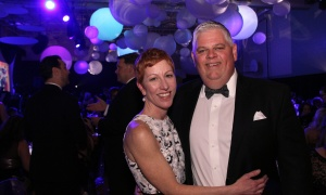 Scott Murray, president and CEO of ClearPicture, with his wife, gala committee volunteer Christine Murray, at Elmwood School's 28th annual gala, held at the all-girls private school in Rockcliffe Park on Saturday, April 22, 2017. (Photo by Caroline Phillips)