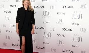 Heritage Minister Mélanie Joly on the red carpet at the Juno Gala Dinner and Awards held at the Shaw Centre on Saturday, April 1, 2017. (Photo by Caroline Phillips)