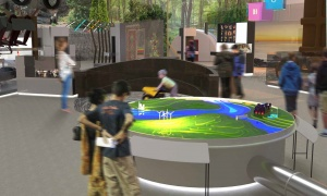 A rendering of the Transforming Resources exhibit