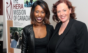 From left, Denise Siele, a former OBJ Forty Under 40 Award recipient, with  Nepean-Carleton MPP Lisa MacLeod, at Red, White and Gold: An Amazing Evening with Chantal Kreviazuk, held at the Shaw Centre on Friday, May 26, 2017. (Photo by Caroline Phillips)