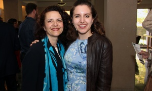 Susan St. Amand, board vice chair of the Ottawa Community Foundation, with her daughter, Emily Lalande,  at the Because Mothers Matter Awards held at the Embassy of France on Tuesday, May 16, 2017. (Photo by Caroline Phillips)