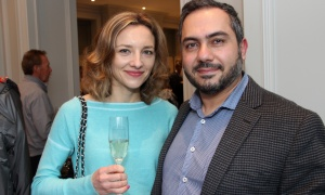 Glebe residents Alicja Isaac and her husband, Richard Isaac, president and CEO of RealDecoy, were curious enough about the new 1451 Wellington boutique luxury condo residence that they came out for its grand opening party held on Thursday, May 11, 2017. (Photo by Caroline Phillips)