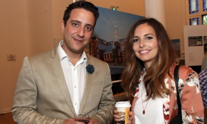 Developer Tamer Abaza and architect Izza Lapalice at the official sales launch of St. Charles Market in Beechwood Village, held on Thursday, May 25, 2017. (Photo by Caroline Phillips)