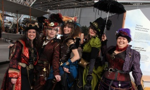 The inaugural National Science and Innovation Gala held at the Canada Aviation and Space Museum on Wednesday, May 17, 2017 was a success with its steampunk theme. (Photo by Caroline Phillips)