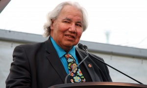 Senator Murray Sinclair was this year's 2017 Honourary Riverkeeper at the Ottawa Riverkeeper environmental benefit for the Ottawa Riverkeeper organization held at Lemieux Island on Wednesday, May 31, 2017. (Photo by Caroline Phillips)