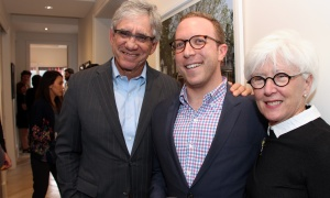 From left, Dr. Hartley Stern with Adam Zaret and Dorothy Stern at the launch of Gemstone Corporation's new office, design centre and showroom at 252 Argyle Avenue, held on Thursday, June 1, 2017. (Photo by Caroline Phillips)