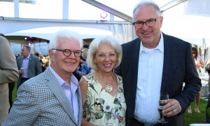 Len Farber and his wife Barbara Farber, president of Leikin Group, with Milan Topolovec,  president and CEO of TK Financial Group, at the Twinkle Gala held Thursday, June 8, 2017, at Michael Potter's Rockcliffe Park estate. (Photo by Caroline Phillips)