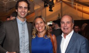 From left, Justin Dubois and Antoinette Strazza with Emond Harnden founding co-partner Jacques Emond at the Gold Plate Dinner held at the Hellenic Meeting and Reception Centre on Tuesday, June 13, 2017. (Photo by Caroline Phillips)