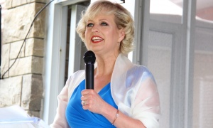 CBC Ottawa news anchor Lucy van Oldenbarneveld was the host of the annual garden party benefit for Cornerstone Housing for Women, held Sunday, June 4, 2017, at the official residence of the German ambassador. (Photo by Caroline Phillips)