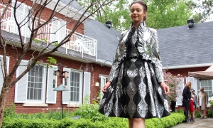 Models from Angie's AMTI showed off designs by Ottawa couturier Frank Sukhoo at the annual Cornerstone Garden Party & Fashion Show, held at the official residence of the German ambassador on Sunday, June 4, 2017. (Photo by Caroline Phillips)