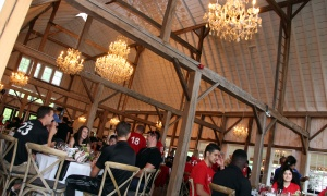 More than 200 guests dined inside Stonefields' heritage barn during the Fury for the Heart fundraiser for the Montfort Hospital Foundation, held at the heritage farm on Sunday, June 25, 2017. (Photo by Caroline Phillips)