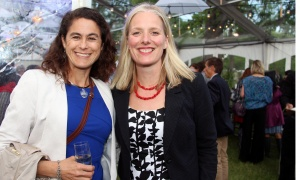 From left, Ottawa Riverkeeper board member Colleen Westeinde with Environment Minister Catherine McKenna at the Ottawa Riverkeeper Gala held at Lemieux Island on the Ottawa River on Wednesday, May 31, 2017. (Photo by Caroline Phillips)