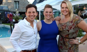 Harley Finkelstein, COO of Shopify, with its director of government affairs, Alex Clark, and senior vice president of human relations, Brittany Forsyth, at the Twinkle Gala held Thursday, June 8, 2017, at Michael Potter's Rockcliffe Park estate. (Photo by Caroline Phillips)