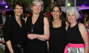 From left, Sheila Whyte from Thyme & Again with her team, Bridget McLaine and Sandra Saikaly, as well as Angela Spicer from Event Design helped to pull off the Twinkle Gala, held at Michael Potter's Rockcliffe Park estate on Thursday, June 8, 2017. (Photo by Caroline Phillips)