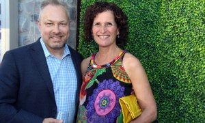 Tim Kluke, president and CEO of The Ottawa Hospital Foundation, with foundation board member Sandra Goldberg at a gala benefit hosted by the Lift Foundation on Thursday, June 8, 2017, in support of the hospital's Neonatal Intensive Care Unit. (Photo by Caroline Phillips)