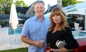 Dave McGahan, vice president with CLV Group, and his wife, Kristine Johnson, at the Twinkle Gala held at Michael Potter's estate in Rockcliffe Park on Thursday, June 8, 2017. (Photo by Caroline Phillips)