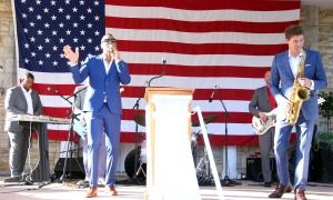 Canadian soul singer Sean Jones entertained the crowd at the U.S. Embassy's Fourth of July party, held Tuesday, July 4, 2017. (Photo by Caroline Phillips)