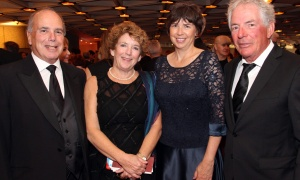 From left, Jacques Emond, co-founding partner of sponsor Emond Harnden LLP, and his wife, Ellen, with Elizabeth Cameron and Mike Coucke at the National Arts Centre Gala held at the NAC on Saturday, September 16, 2017. Photo by Caroline Phillips