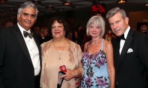 From left, Bill Malhotra, president of Claridge Homes, with his wife, Romina, along with Carol Devenny, managing partner of PwC, and her husband, Grant McDonald,  regional managing partner of KPMG, at the National Arts Centre Gala held at the NAC on Saturday, September 16, 2017. Photo by Caroline Phillips