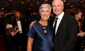 Jayne Watson, CEO of the National Arts Centre Foundation, with her husband, Peter Froislie, at the NAC Gala held Saturday, September 16, 2017. Photo by Caroline Phillips