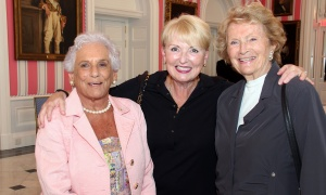 From left, Shirley Greenberg with Gail Joynt and Diana Kirkwood at a reception for the Royal's Women For Mental Health, held at Rideau Hall on Wednesday, September 20, 2017. Photo by Caroline Phillips