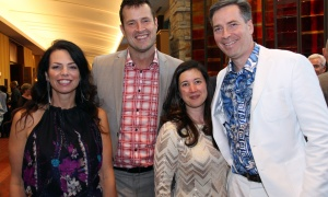 From left, Giselle Bergeron-Raganold with her husband, Bruce Raganold, director of business development with sponsor Welch LLP,  with Andrew Waitman, CEO of sponsor Assent Compliance, and his wife, Heidi Hauver, now with Keynote Group,  at the Fight for the Cure charity boxing gala, held at the Hilton Lac-Leamy on Saturday, September 23, 2017. Photo by Caroline Phillips