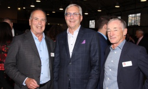 From left, Jacques Emond, co-founder of Emond Harnden LLP, with Ian Sherman, partner at Ernst & Young and board chair of the Ottawa Chamber of Commerce, and Lynn Harnden, co-founder of Emond Harnden, at the law firm's 30 Year Anniversary, held at the Horticulture Building at Lansdowne on Thursday, September 28, 2017. Photo by Caroline Phillips