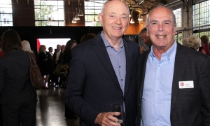 From left, Al O'Brien, senior partner at Nelligan O'Brien Payne, with Jacques Emond, co-founder of Emond Harnden LLP, which hosted a 30 Year Celebration at the Horticulture Building at Lansdowne on Thursday, September 28, 2017. Photo by Caroline Phillips