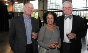 From left, guests David Burns of David Burns & Associates insurance agency with Susan Caplan-Firestone and lawyer Robert Houston at Emond Harnden LLP's 30 Year Celebration, held at the Horticulture Building at Lansdowne on Thursday, September 28, 2017. Photo by Caroline Phillips