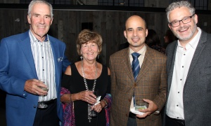 From left, Don Sutherland from the Walls and Ceilings Contractors Association, with his wife, Marnie, and Michael Assal, president of Taplen Construction, with Paul Lalonde, partner at Emond Harnden LLP, at the law firm's 30 Year Celebration, held at the Horticulture Building at Lansdowne on Thursday, September 28, 2017. Photo by Caroline Phillips