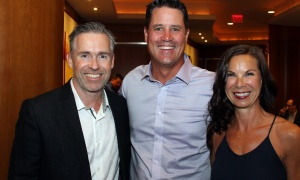 From left, Sean Lundy, CEO of Lundy Construction, and Brian Morley, vice president at Morley Hoppner Group, along with his wife, Erin, attended the 15th annual Lumière Gala held at the Brookstreet Hotel on Thursday, September 14, 2017. Photo by Caroline Phillips