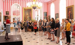 Sharon Johnston invited members of the Royal's Women for Mental Health to Rideau Hall on Wednesday, September 20, 2017, for a final reception. Photo by Caroline Phillips