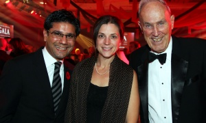 From left, Ontario Attorney General Yasir Naqvi with his wife, Christine McMillan, and Frank McArdle at The Ottawa Hospital Gala held at The Westin Ottawa on Saturday, October 28, 2017. Photo by Caroline Phillips