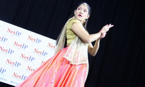Nikita Kamblé-Bagal performs a traditional Indian dance on stage at NetIP Canada's 7th Diwali & Awards Gala, held at the Infinity Convention Centre on Friday, October 13, 2017. Photo by Caroline Phillips