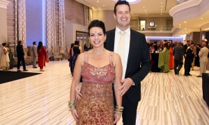 Bruce Raganold, director of business development with Welch LLP, with his wife, Giselle Bergeron-Raganold, at the Network of Indian Professionals (NetIP) Canada's 7th Diwali & Awards Gala, held at the Infinity Convention Centre on Friday, October 13, 2017. Photo by Caroline Phillips