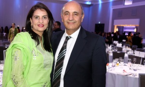 Honourary gala co-chair Raj Narula, president and CEO of InCa Synergies, with his wife, Jyoti, at NetIP Canada's 7th Diwali & Awards Gala, held at the Infinity Convention Centre on Friday, October 13, 2017. Photo by Caroline Phillips
