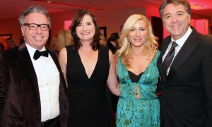 From left, Dennis Laurin, owner of the Laurin Group, and his wife, Andrea, with Maria Bassi and John Bassi, CEO of Bassi Construction,  at The Ottawa Hospital Gala held at The Westin on Saturday, October 28, 2017. Photo by Caroline Phillips